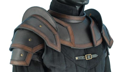 Leather Armour Shoulder And Neck Guard Thevikingstore Co Uk